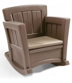 Кресло-качалка с подушкой - фото 10279
