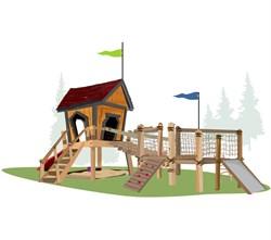 Игровой комплекс для детей Малыш и Карлсон - фото 10391