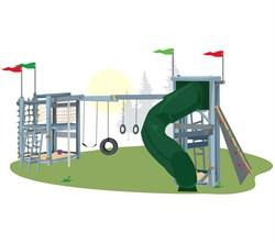 Детский игровой комплекс Винни Пух - фото 10405