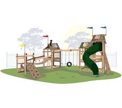 Игровой комплекс для детей Тропический угловой - фото 10423