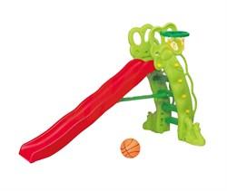 Детская горка Горошина + баскетбольное кольцо SL-16 - фото 10526