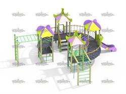 Детский игровой комплекс Веселый круг Н=900 - фото 10555