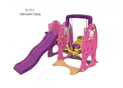 Детский игровой комплекс FAMILY Зайчата F-771 - фото 11094