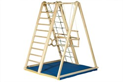 Детский спортивный комплекс (ДСК) Kidwood Березка (комплектация Оптима) - фото 11436