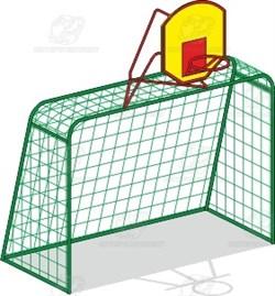 Ворота футбольные с баскет. стойкой (без сеток) И-1м - фото 11782