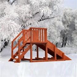 Зимняя горка Урал удлиненная - фото 11794