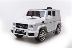 Электромобиль Mercedes G63, Белый, Глянцевый - фото 12805