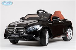Электромобиль Mercedes S63, Чёрный, Глянцевый - фото 12872