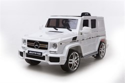 Электромобиль BARTY Mercedes-Benz G63 AMG (12V/10ah) Tuning (HAL168)  Белый - фото 14106