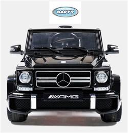 Электромобиль BARTY Mercedes-Benz  G63 AMG(12V/10ah) Tuning (HAL168) черный глянец - фото 14122