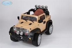 Электромобиль BARTY Jeep Wrangler (JJ-JJ235) бежевый глянцевый - фото 15372