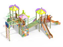 Детский игровой комплекс Топотушки со щитом Граффити Н=1500 ДИК 3.168 - фото 15769