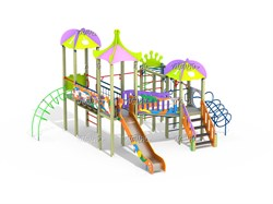 Детский игровой комплекс Джунгли граффити Н=1500 ДИК 3.212 - фото 15771