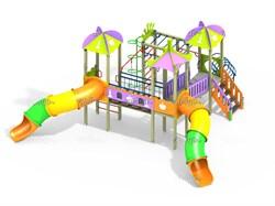 Детский игровой комплекс Шахматы с двумя пластиковыми горками Н=1500 ДИК 3.216-К16 - фото 15773