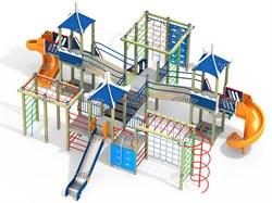 Детский игровой комплекс Прибрежный ДПС Н=1500, 1800 ДИК 5.054 - фото 15786