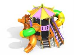 Детский игровой комплекс Шатер Н=700, 2000 ДИК 9.151 К16 - фото 15792