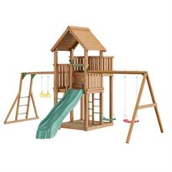 Детские городки Jungle Palace + Swing X'tra + рукоход с гимнастическими кольцами - фото 16299