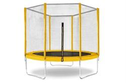 "Батут с защитной сеткой ""Trampoline 6"" диаметр 1,8 м жёлтый - фото 17872"