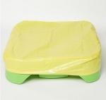 Детская пластиковая песочница мини-бассейн Песочница квадратная с покрытием Marian Plast 378 - фото 4475