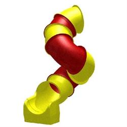 Горка труба винтовая диам. 850мм с 2.50м. - фото 4899
