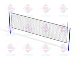 Стойка волейбольная (комплект) без сетки СО 5.05 - фото 5735