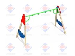 Качели двойные на деревянных столбах ДИО 1.10 - фото 5755