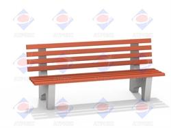 Скамейка со спинкой МФ 1.14 - фото 5988