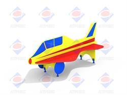 Лавочка со спинкой Самолётик МФ 1.22 - фото 6000