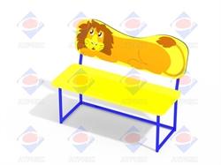 Скамейка со спинкой Львёнок МФ 1.26 - фото 6006