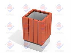 Урна деревянная МФ 6.061 - фото 6028