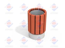 Урна деревянная круглая МФ 6.065 - фото 6034