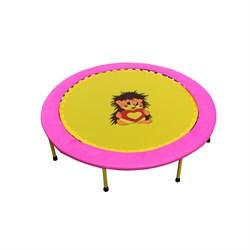 Складной мини-батут 40 диаметр 102 см (розово-желтый) - фото 7987