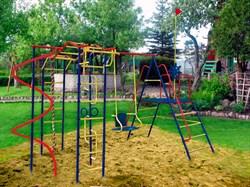 Детский спортивный комплекс Пионер Юнга дачный со спиралью - фото 8673