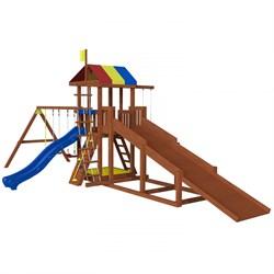 Детская площадка Джунгли 9 с зимней горкой - фото 8897
