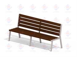 Лавочка Бизнес мини (деревянный брус) МФ 1.40 - фото 9506
