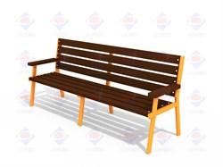 Лавочка Бизнес (деревянный брус) МФ 1.45 - фото 9510