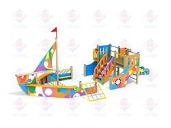 Детский игровой комплекс Яхта графити Н 1200 ДИК 3.091 - фото 9572