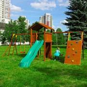 Детские городки Jungle Cottage + Climb Module Xtra + Рукоход с качелей