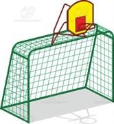 Ворота футбольные с баскет. стойкой (без сеток) И-1м