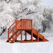 Зимняя горка Урал удлиненная