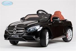 Электромобиль Mercedes S63, Чёрный, Глянцевый