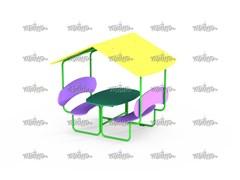 Столик со скамейками и навесом МФ 2.031-16