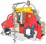 МФ 8.104.11 Домик с горкой двухстороний трактор и избушка
