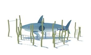 ДП 1.01 Акула с водорослями и рыбкой