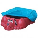 Детская пластиковая песочница мини-бассейн Собачка с покрытием Marian Plast 431