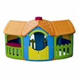 Детский пластиковый домик с двумя пристройками Marian Plast 666