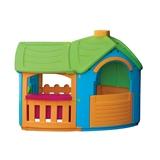 Детский пластиковый домик Вилла с пристройкой Marian Plast 662