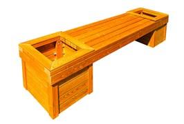 Скамейка с вазонами