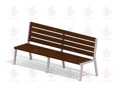 Лавочка Бизнес мини (деревянный брус) МФ 1.40